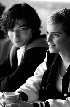 "Ezra Miller and Emma Watson as Patrick and Sam in ""The Perks of being a wallflower"""