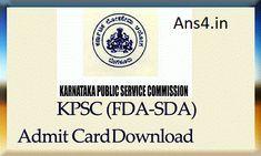KPSC FDA SDA Admit Card 2018 Download 1058+754 Karnataka Assistant Hall Ticket at www.kpsc.kar.nic.in - ANS4 - Employment NewsMake Blinking Text!Make Blinking Text!Make Blinking Text!Make Blinking Text!