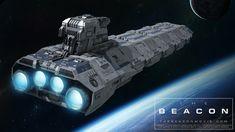 ArtStation - The Beacon - Cargo Cruiser, Andrew Bangel Star Wars Spaceships, Sci Fi Spaceships, Spaceship Art, Spaceship Design, Starship Concept, Space Engineers, Futuristic Motorcycle, Sci Fi Ships, Concept Ships