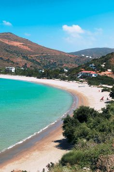 The beach of Fellos Andros Island Cyclades Summer Of Love, Summer 2016, Andros Greece, Island 2, Greece Islands, Holidays 2017, Sandy Beaches, Greece Travel, Beautiful Islands