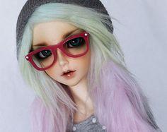 BJD wig Minifee clothes Blythe glasses Feeple por MonstroDesigns