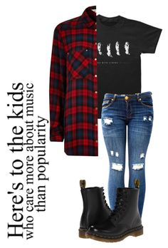 """""""Untitled #324"""" by jigglypuff-irwin ❤ liked on Polyvore featuring moda, River Island i Dr. Martens"""