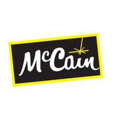 McCain Foods, the world's largest manufacturer of frozen potato products, supplies French fries, potato specialties and appetizers to retail and foodservice customers around the globe. Company Logos And Names, Food Company Logo, Logo Food, Good Company, Chocolates, Mccain Foods, Free Groceries, Employer Branding, Menu