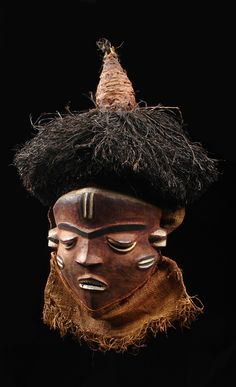 "Africa | Mask ""mbuya"" from the Pende people of DR Congo 