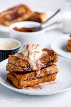 CAPPUCCINO FRENCH TOAST WITH COFFEE CREAM