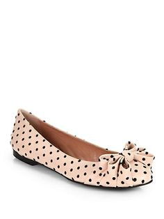 Polka Dot Leather Ballet Flats $395.00 by Saks Fifth Avenue...beyond cute and beyond my budget unfortunately!!!