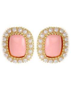 Pink Ear Studs