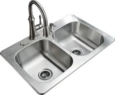 tuscany stainless steel double bowl menards double bowl kitchen sinkstainless - Menards Kitchen Sinks
