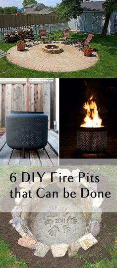 6 DIY Fire Pits that Can be Done in One Weekend #HomeImprovementProjects