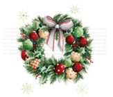 Painting of traditional wreath with baubles, ribbon and holly. Christmas Wreaths, Holly Christmas, Christmas Gifts, Xmas, Charity Christmas Cards, Box Frames, Traditional, Arthritis, Holiday Decor