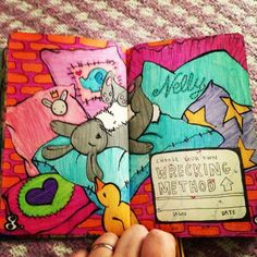 Wreck this journal everywhere page, choose your own wrecking method page...♥