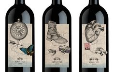 Die cut wine label - not a budget packaging for sure