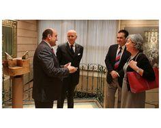 Andoni Ortuzar e Iñaki Goikotxeta con Jan De Bock y Sylvie Lagneaux Bonelli, embajador y cónsul de Bélgica.