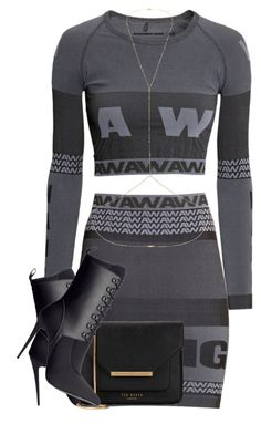 """""""Untitled #467"""" by camgueyana ❤ liked on Polyvore featuring H&M, Alexander Wang, Ted Baker and Topshop"""