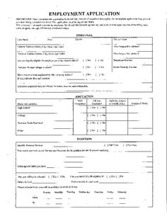 Blank Job Application Form Samples - Download Free Forms & Templates in PDF & WORD Printable Job Applications, Employment Form, High School Activities, Job Application Form, Nanny Jobs, Business Planning, Life Skills, How To Apply, Templates