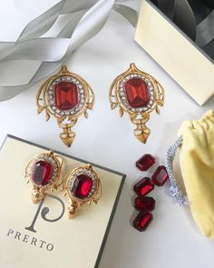 Sketch to final product! Our #Rose ear studs are a mixture of fun and elegance  . . . . . #Trends #jewelleryphotography #Jewellery #Earings #Accessory #Royal #Love #Luxury #Prerto #Dressy #Style #Stones #Studs #Red #Onlineshopping #musthave