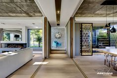 Separation Doors, Open Plan Living & Dining Space, Luxurious Interior, Pearl Valley Golf Estate, South Africa
