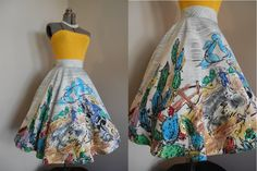 50s xl skirt// 50s Mexican Circle Skirt// by RockabillyRavenVtg, $198.00 Amazing!