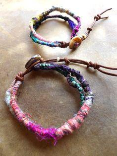 Tribal dread Bracelet/ Boho/ Bohemian/ Hippy/ Rainbow by Temple33