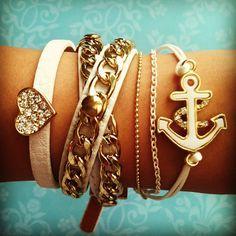 ♥♥ arm candy #heart #chains #anchor