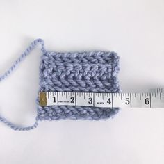 My gauge swatch for the chunky hat Chunky Crochet Hat, Crochet Winter Hats, Double Crochet, Knitted Hat, Sunflower Crafts, Come Undone, Faux Fur Pom Pom, Yarn Over, Yarn Needle