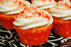 Orange Velvet Cupcakes (i think they just changed the color, but I say add some Orange Zest to make them taste different too)