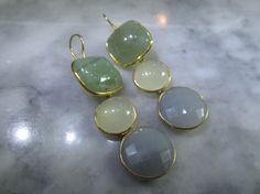 Chandelier Earrings, Pearl Earrings, Earrings Handmade, Handmade Jewelry, Or Rose, Rose Gold, Imitation Jewelry, Sea Pearls, Gem Stones