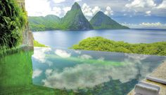 Jade Mountain, St.Lucia...infinity pool and nothing to stand in-between you and nature from the comfort of your room...