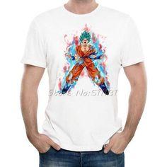 Newest Style Dragon Ball Z Goku t shirt Funny Anime Super Saiyan t-shirts Men/Boy Harajuku tee shirts Casual tshirts tops