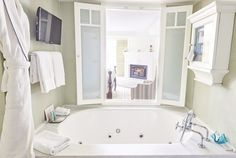 The peek-a-boo bathtub window is featured in all guest rooms at Shutters on the Beach - Santa Monica, California.