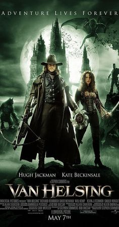 Directed by Stephen Sommers.  With Hugh Jackman, Kate Beckinsale, Richard Roxburgh, Shuler Hensley. The notorious monster hunter is sent to Transylvania to stop Count Dracula who is using Dr. Frankenstein's research and a werewolf for some sinister purpose.