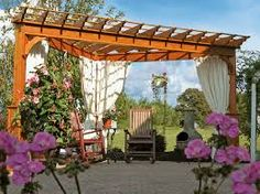 pergolas above the fence for added privacy - Google Search