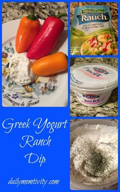 greek yogurt dip, healthy ranch #healthy #dailymomtivity