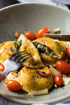 Spinach and Ricotta Grain-Free Ravioli. 17 Mediterranean Recipes That Are on the Keto Diet #purewow #dessert #recipe #dinner #lunch #ketogenic #food #mediterranean