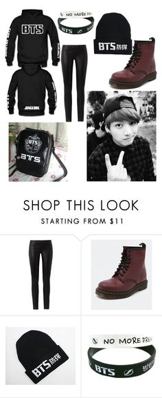 """""""BTS A.R.M.Y~Jungkook"""" by linhluvsfashion ❤ liked on Polyvore featuring The Row, Dr. Martens, LØMO, kpop, bts, BangtanBoys and jungkook"""