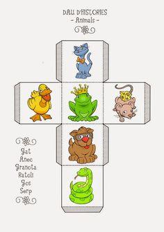 Daus per crear històries Speech Language Therapy, Speech Therapy Activities, Infant Activities, Kindergarten Activities, Speech And Language, Classroom Activities, Work Activities, Story Cubes, Fairy Tale Projects