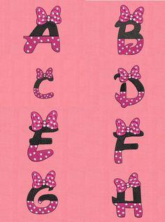 alfabeto de minnie pintura tecido - Buscar con Google