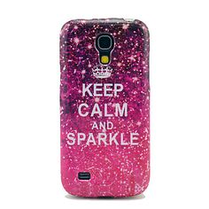 Keep Calm And Sparkle Glossy TPU Soft Case til Samsung Galaxy S4 mini