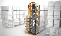 Pantene Point of Sale materials by Mathias D'Andrea Modena, via Behance