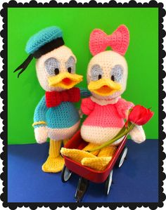 Connie's Spot© Crocheting, Crafting, Creating!: Free Baby Donald & Daisy Inspired Doll Pattern©