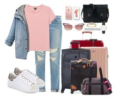 """""""10/13/15"""" by altheahoran ❤ liked on Polyvore featuring Frame Denim, Monki, Bric's, Rimowa, Delsey, IRO, Yves Saint Laurent, Rebecca Minkoff and Daniel Wellington"""