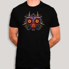 93f41e7f1cc5 Majora s mask en bois - T-shirt fan art de Zelda sur coton bio