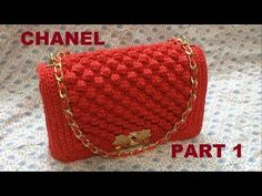 Crochet || Tutorial Merajut Dompet Motif Stroberi + Inner || Strawberry Stitch (Part 2) - YouTube
