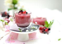 Mousses végétales aux fruits rouges [ Au jus de pois chiche ]