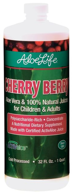 Cherry Berry Whole Leaf Aloe Juice Concentrate Quart