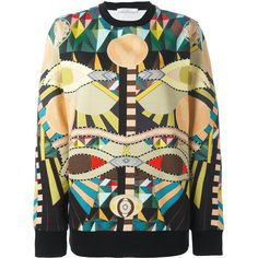 Givenchy Crazy Cleopatra Crewneck Sweater ($1,220) ❤ liked on Polyvore featuring tops, sweaters, kirna zabete, loose fitting sweaters, beige sweater, givenchy, beige top and crew neck sweaters