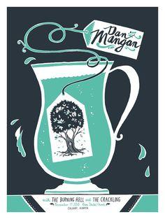 Dan Mangan Silkscreen Poster. $12.00, via Etsy.