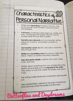 Personal Narrative Writing Unit {My Life is a Story} Lessons, Anchor Charts, Writing Notebook Anchor Charts