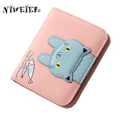 Cheap bag jumps, Buy Quality bag neoprene directly from China purse bag Suppliers: top pu two fold short 4colors cute cat teenage girls wallet kid's purse button clutch  female purses card holder money bags