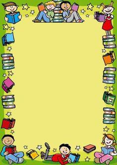 display mount for reading children from Brainwaves. Supplying stickers, certificates, badges, stampers, wristbands & personalised rewards for school children. Boarder Designs, Frame Border Design, Page Borders Design, Borders For Paper, Borders And Frames, School Frame, Art School, School Border, Powerpoint Background Design
